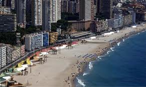 Poniente Beach in Benidorm